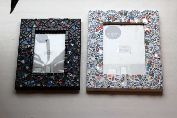 Multicolor Mosaic Moroccan Frames African decor Photo frame