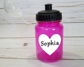 Pink 10 oz. Personalized Water Bottle