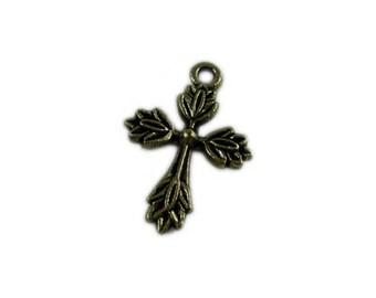16 x 24mm Bronze Cross - 2 crosses