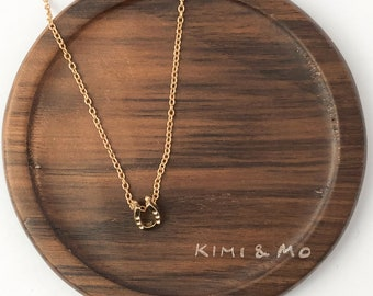 Mini Horseshoe Necklace // Geometric Necklace // Geometric Necklace Gold // Minimalist Necklace // Inspirational Gift // Gift for Her