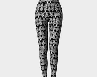 aubrey beardsley - art deco tree print -  printed leggings