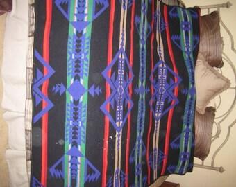 Vintage Pendleton Beaver State Wool Indian Native American Blanket Cutter Crafts