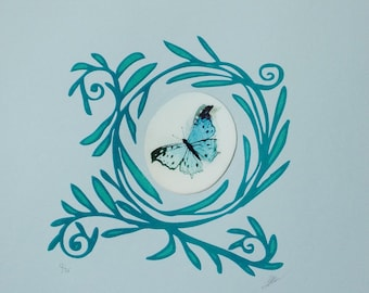 Animated Butterflies Print (S)