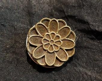 Bronze Flower Snap Button