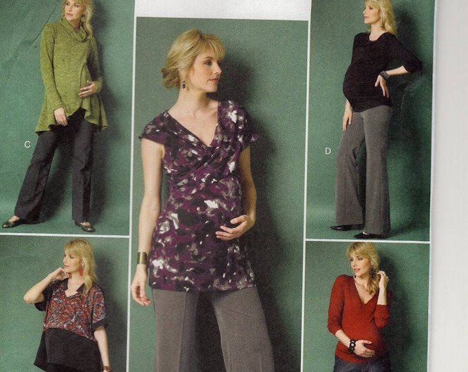 FREE US SHIP Butterick 5964 150th Anniversary Maternity Top Pants Size 14/22 Bust 36 38 40 42 44 Plus Uncut (Last size left) Sewing Pattern