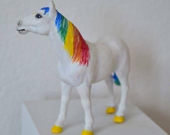 OOAK custom rainbow horse Schleich