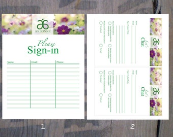 INSTANT DOWNLOAD * Printable Arbonne Party items * Sign-in Sheet & Contact Form * Reusable