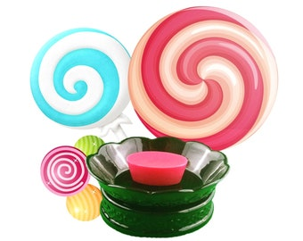 Lollipops Scented Wax Melt Cup - Highly Scented Wax Melt - Sliceable Scented Wax Melt - Candle Melt Cup - Wax Shot - Wax Tart