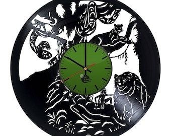 The Jungle Book Characters Vinyl Record Wall Clock Home Decor