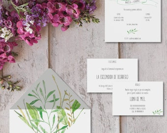 Printable invitations for marriages-model Naples