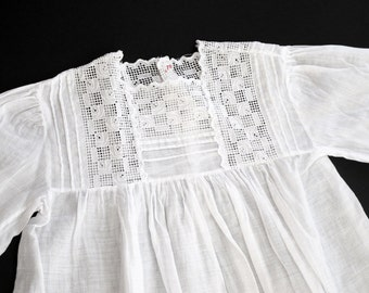 """Antique """"Art deco' French Christening Dress Pretty and refined"""
