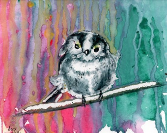 Bird 2 - watercolour fine art print