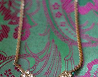Vintage Hollywood Rhinestone Necklace