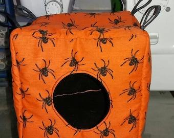 Spider cube, halloween cube,halloween rat cube, halloween rat bed, halloween ferret bed, halloween guinea pig bed, ferret hammock, hamster