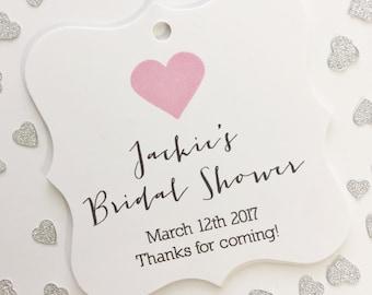 Bridal Shower Tags, Bridal Shower Favor Tags, Wedding Favor Tags, Bridal Shower Hang Tags  (FS-031)