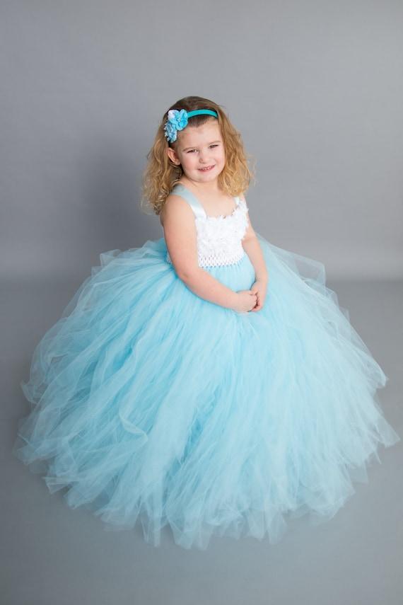 Baby Blue Flower Girl Dresses