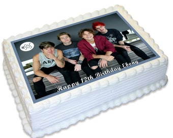 5 Seconds of Summer 5SOS Personalised A4 Edible Icing Topper