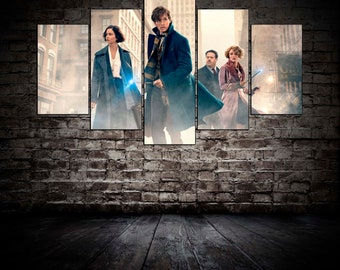 Fantastic Beasts and Where to Find Them Movie canvas Fantastic Beasts poster Movie wall decore Fantastic Beasts print Newton Scamander