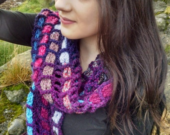 Magical Mesh Scarf Crochet Pattern