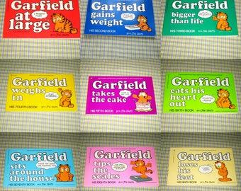 Vintage Garfield cartoon books 1980-1985 Nos 1-9 available