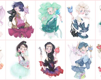 Sailor Moon pop surrealism manga anime dior givenchy vuitton 10 art prints kawaii Fashion Girlfriends