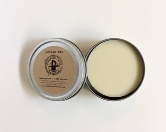 Lemongrass Lotion Bar - Organic Lotion Bar - Travel Lotion - Body Balm - Shea Butter Lotion - Solid Lotion - Healing Balm - Hand Creme