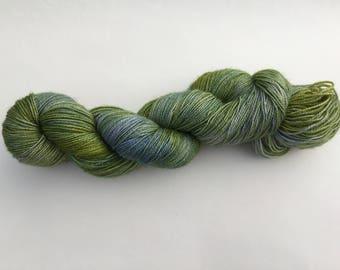 Hand dyed Merino/Nylon/Stellina wool