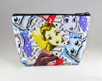 Princess Watercolor Makeup Bag - Accessory - Cosmetic Bag - Pouch - Toiletry Bag - Gift