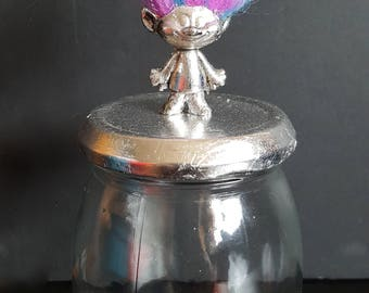 Glass jar / upcycled / Decoration Troll
