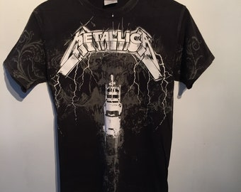 Metallica vintage tshirt size small all over print