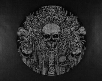 Skull and Bats Vinyl Slipmat