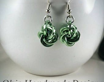 Mobious ball chainmaille earrings