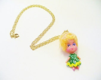 Vintage Tiny Doll Kiddles Necklace DEADSTOCK Polly