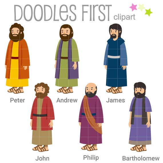 6 Of The 12 Disciples Digital Clip Art For Scrapbooking Card