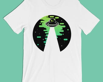 Alien UFO Shirt and Sweatshirt // Alien UFO Apparel // Cute gifts for him gifts for her / Groovy shirt