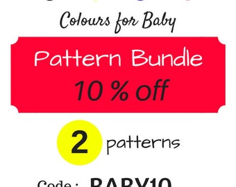 CODE for Bundle of 2 pdf Patterns 10% OFF with CODE BABY10 : choose any shop pattern