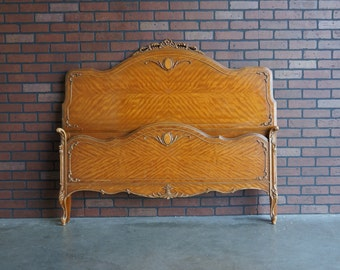 Antique Full Bed / Bed / Shabby Cottage Bed / French Style / Vintage Double Bed Frame / 1920-1940's era ~ Paint To Order ~