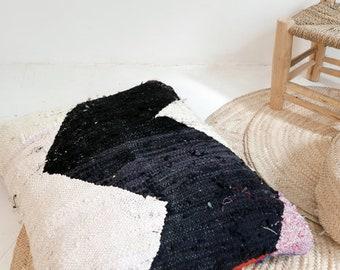 Giant Moroccan Floor Cushion - BOUCHEROUITE Zigzag