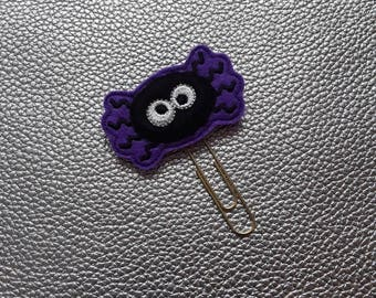 Halloween Spider Planner Bookmark. Planner Feltie Clip.  Paperclip.  Felt Clip. Planner Gifts.  Stationery.  UK SELLER!