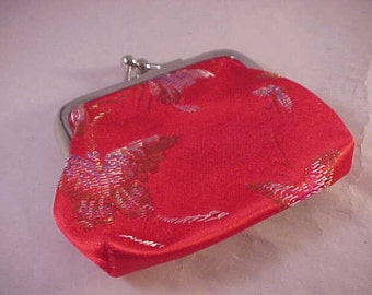 Red Silk Coin Purse