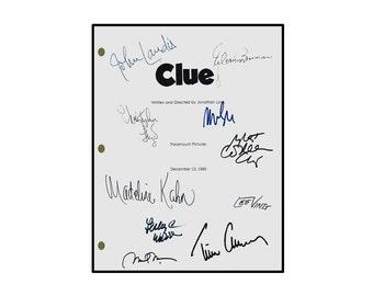 Clue Signed Movie Script Rpt. John Landis, Tim Curry, Eileen Brennen, Madeline Kahn, Christopher Lloyd