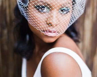 Russian veiling full bando birdcage bridal veil Honey #193VB