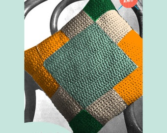 Simple Cushion PDF Download Vintage Crochet Pattern from the 1970's