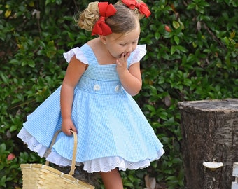 Dorothy Wizard of Oz Dress with Built-in underskirt