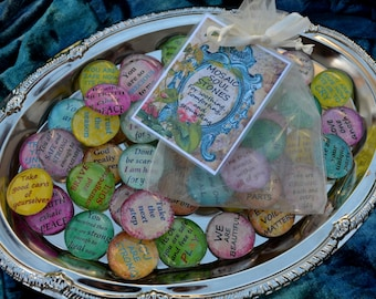 MOSAiC SOUL STONES glass round art therapy grounding word support recovery DID ptsd family systems dissociation survivor