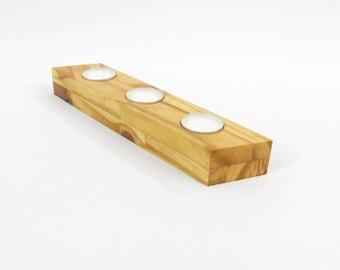Wooden Homewares turned wood candle holder