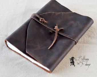 Hand-bound Sketchbook leather Notebook