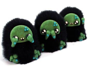 Three Wise Monkeys OOAK soft sculptures Art Doll - Original character doll - Art doll monster - Monster Sculpture Art Toy - Creature Dolls