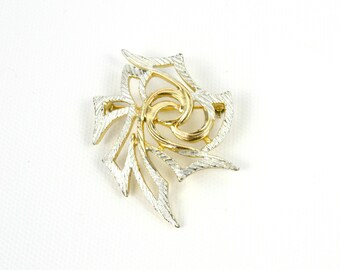 Vintage Sarah Coventry Abstract Two Tone Gold and Silver Brooch/Pin