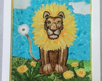 DAN-E-LION Batik Painting